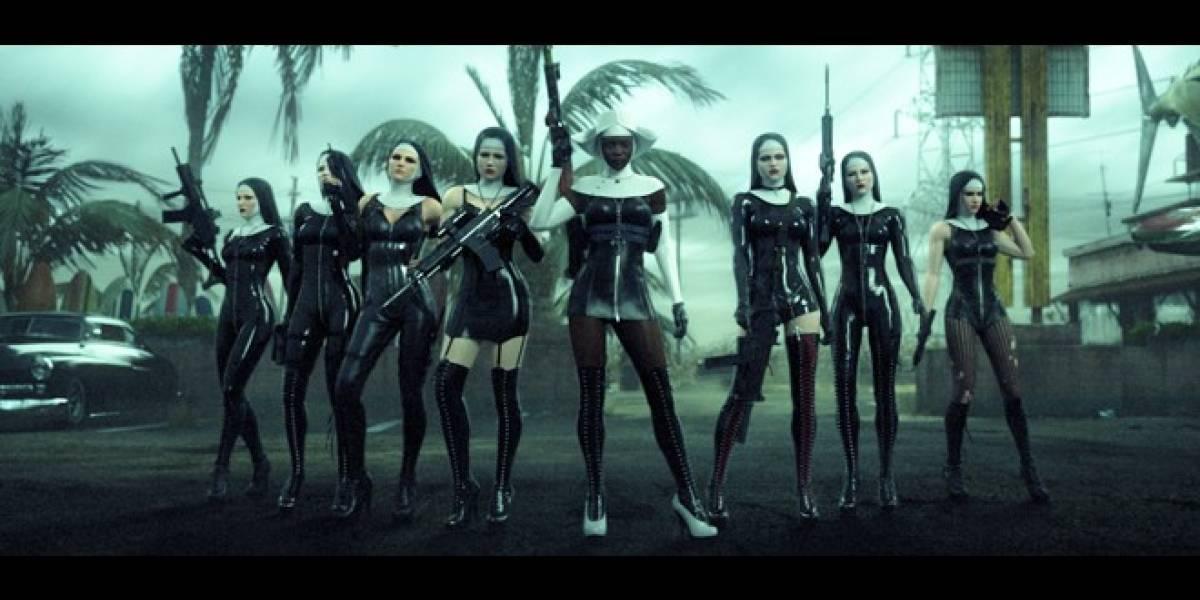 Mira como el Agente 47 combate con estas sexys monjas de ICA