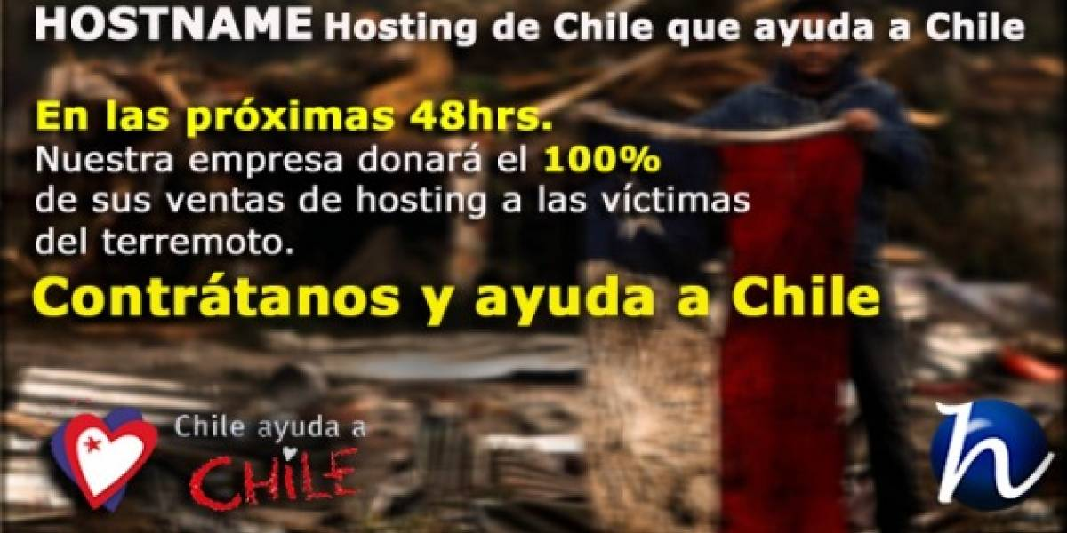 Chile: Hostname donará sus ventas a campaña solidaria