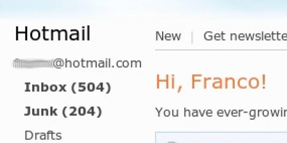 Hotmail deja de usar el protocolo DAV