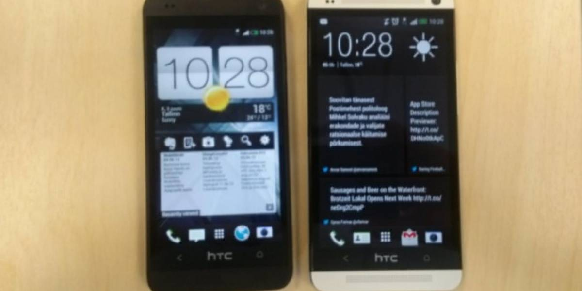 Un supuesto HTC One Mini posa para la cámara espía