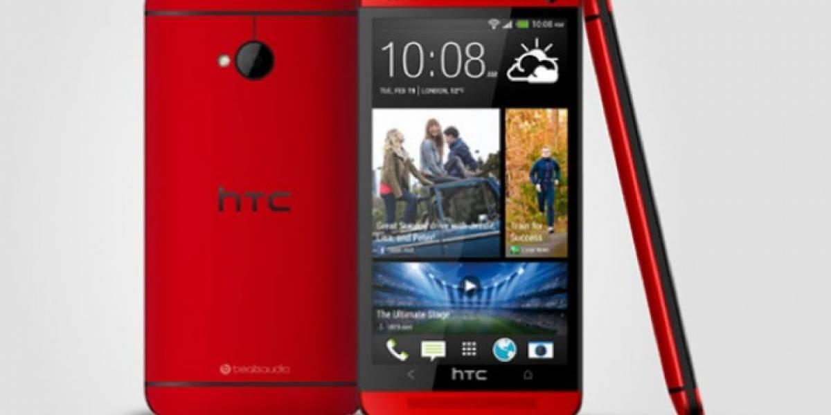 El HTC One de color Rojo Glamour ya anda por ahí