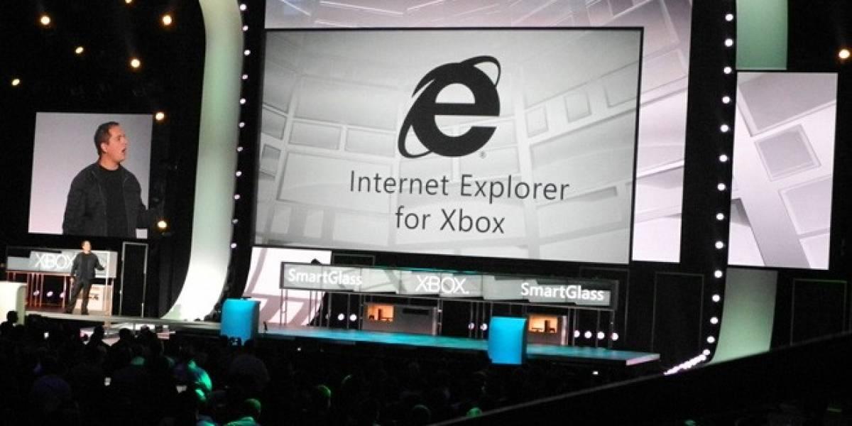 E3 2012: Xbox ahora contará con Internet Explorer