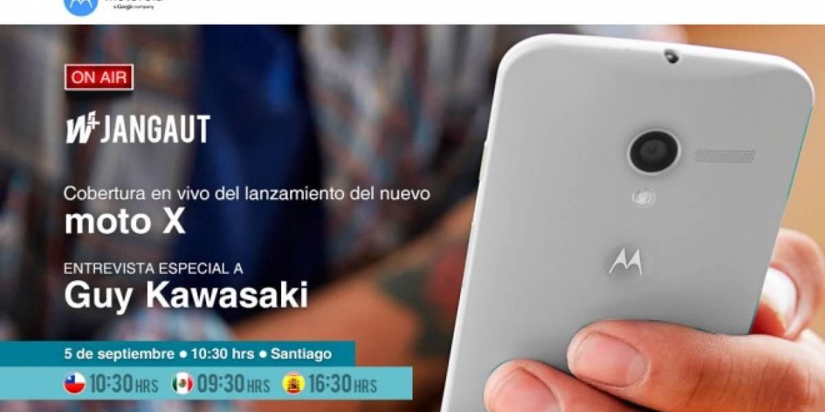 Acompáñanos este jueves para el lanzamiento de Moto X en Chile #wjangaut