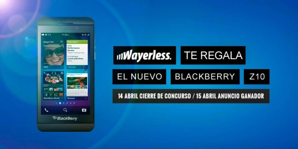 Gánate un BlackBerry Z10 con Wayerless