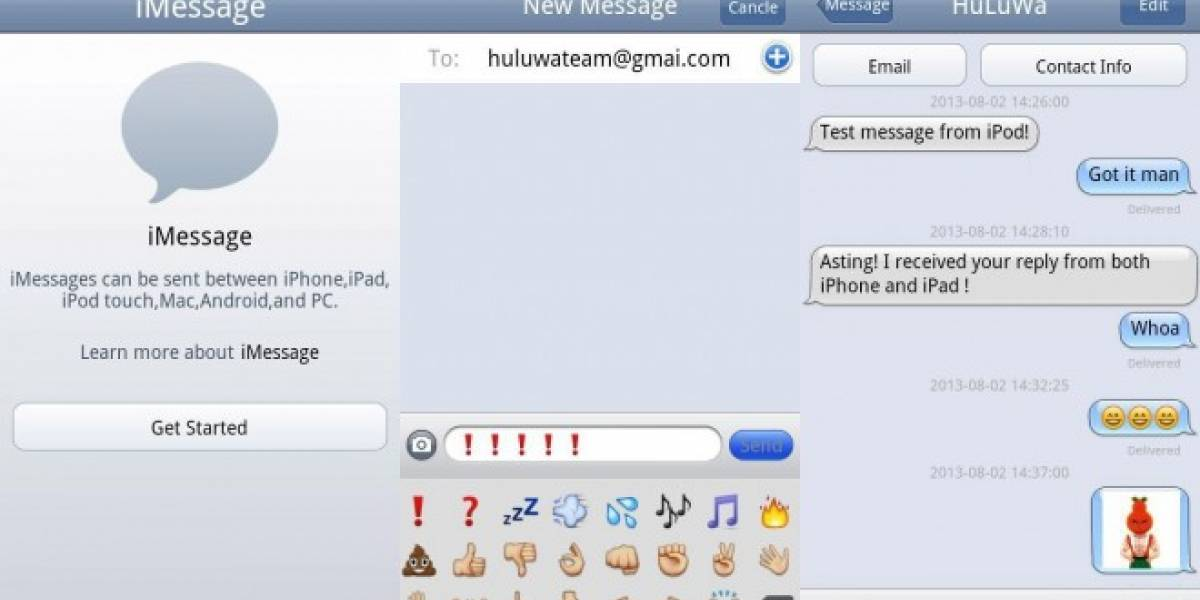 iMessage Chat para Android es capaz de conectarse a iMessage