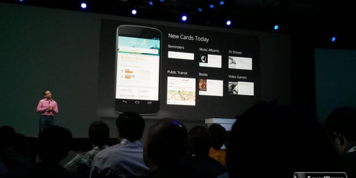 Google Now integra nuevas tarjetas de información #IO13