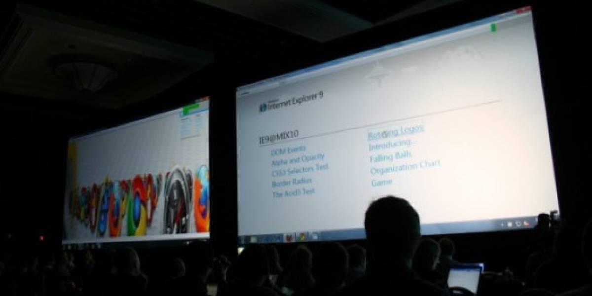 MIX10: Microsoft presenta bondades de IE9