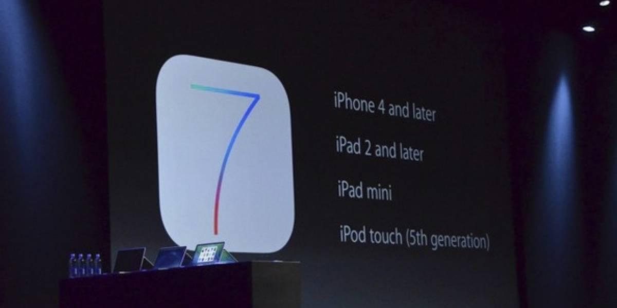Los dispositivos que tendrán soporte para iOS 7 son... #WWDC13