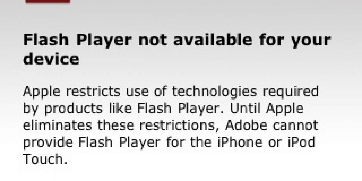 Adobe critica en el mismísimo iPhone las restricciones impuestas por Apple