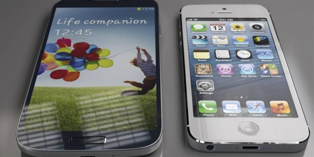 Declaran empate entre las pantallas del Galaxy S4 y iPhone 5