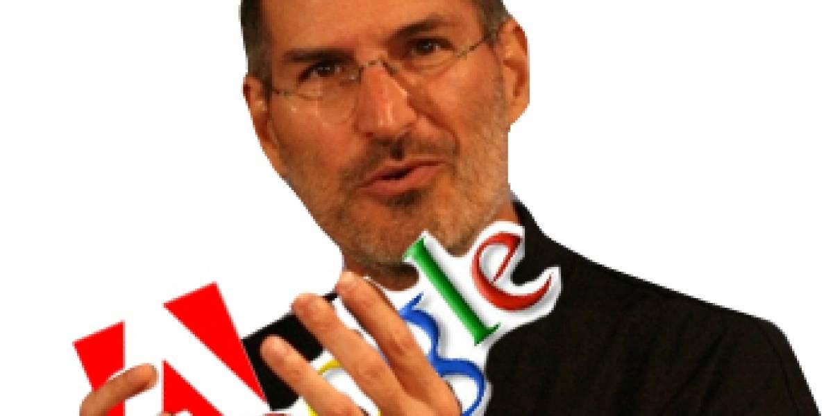 Steve Jobs menosprecia a Google y dice que en Adobe son flojos