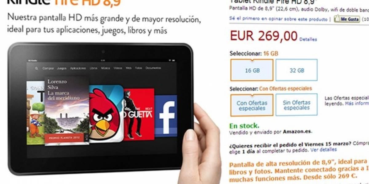 Kindle Fire HD de 8,9 pulgadas ya está en España