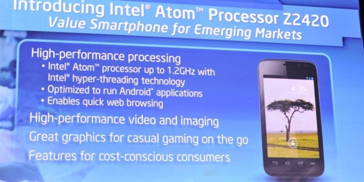 CES 2013: Intel lanza nuevo procesador Atom para smartphones de gama baja