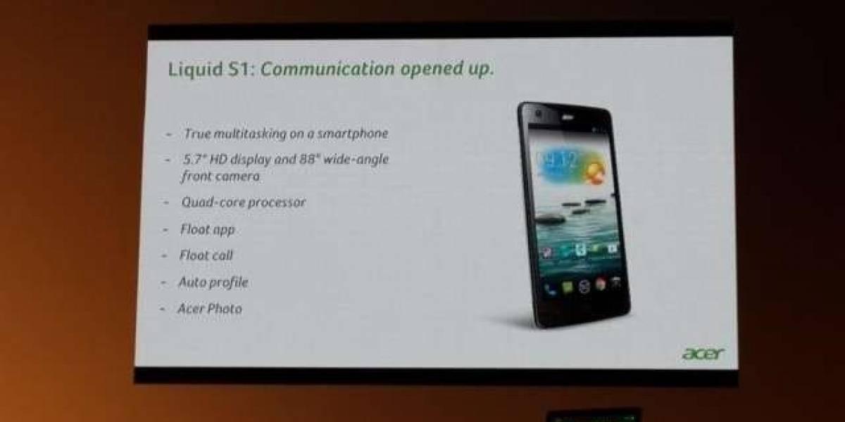 Acer presenta el Liquid S1 y da un paso decidido al mundo de los phablets