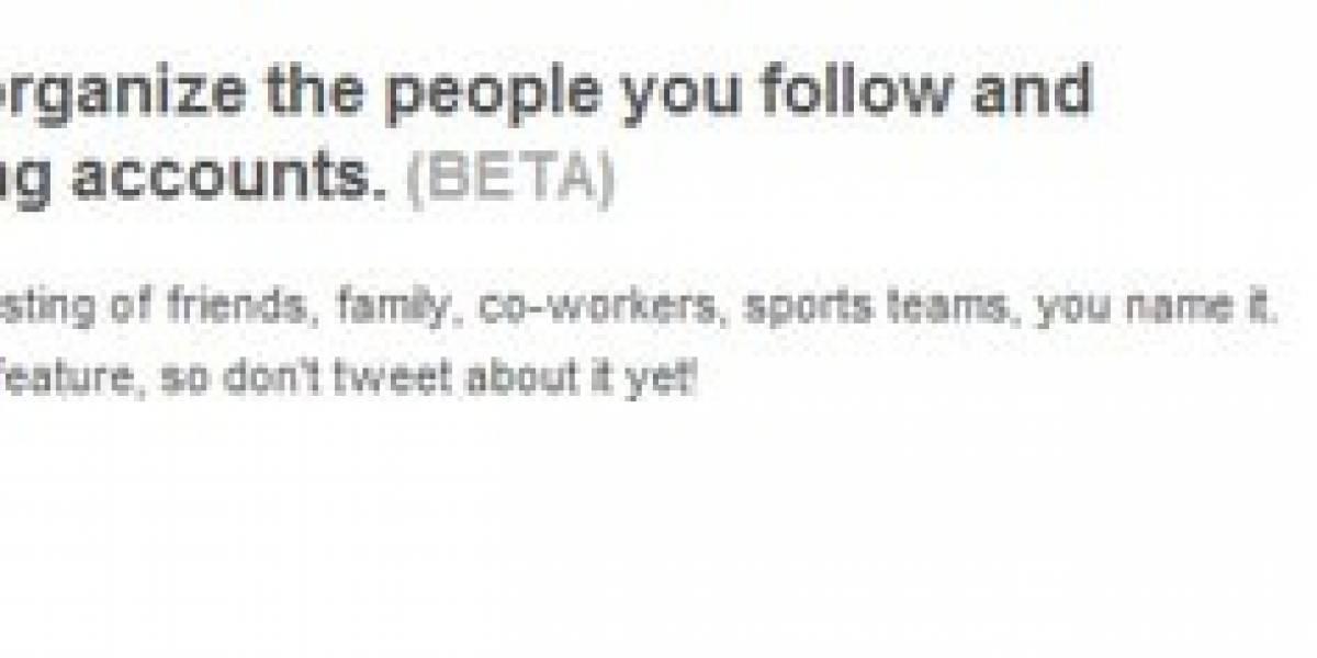 Listas de Twitter ya están disponibles para la mitad de los usuarios