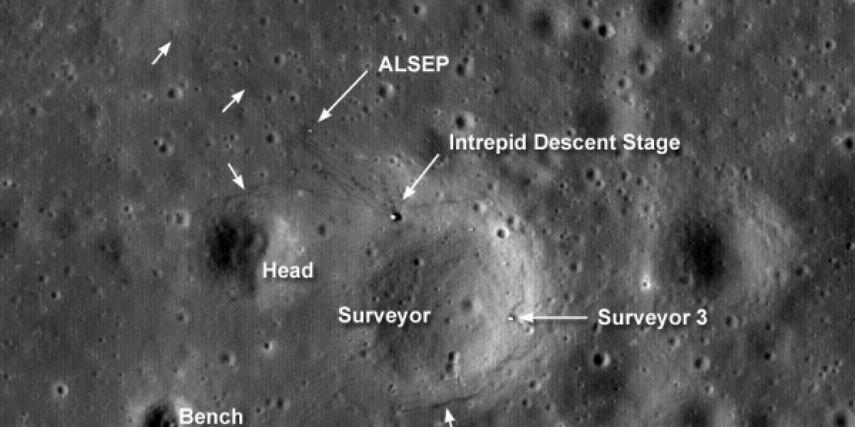 Imperdible: Sonda LRO capta al Apollo 12 en la Luna