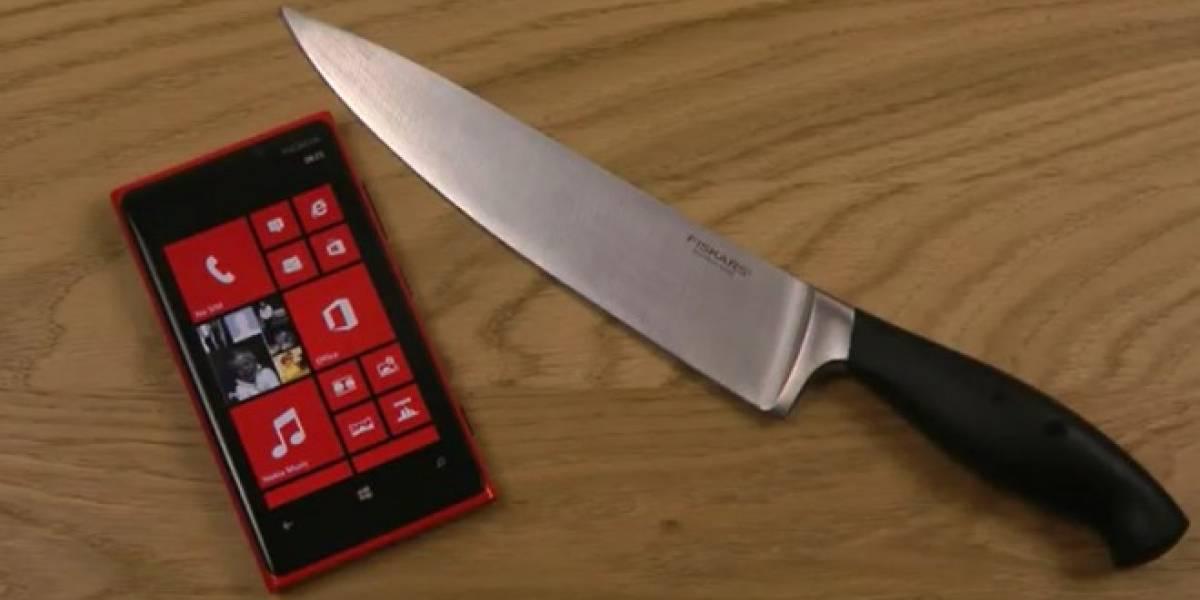 ¿Jugar Fruit Ninja con un cuchillo enorme? Sí, se puede