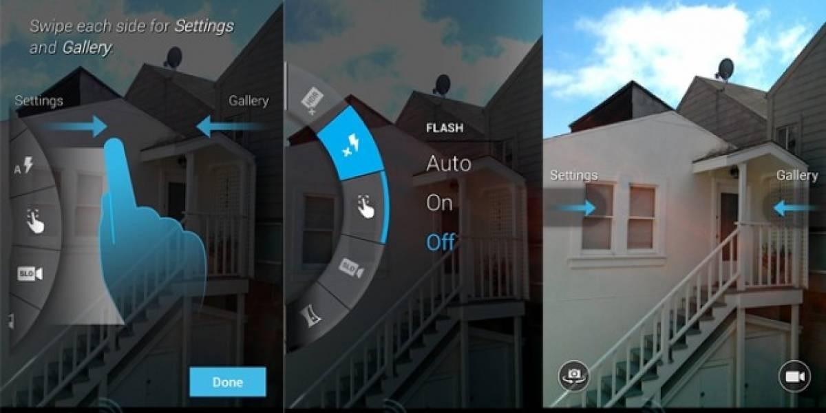 Filtran aplicación de la cámara basada en gestos para el Moto X