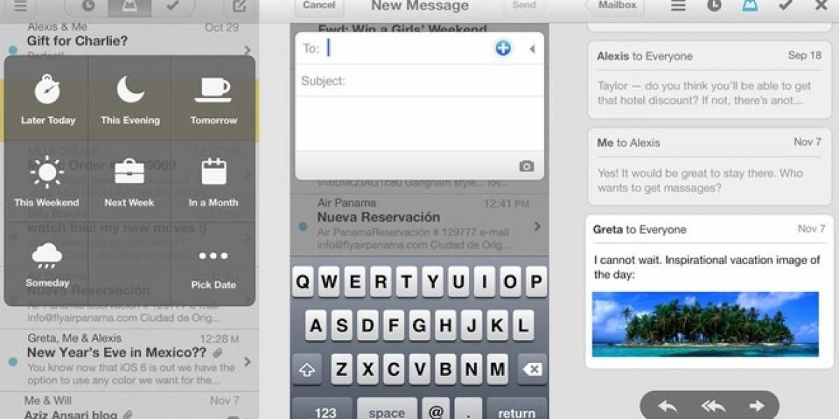 Mailbox para iOS: El cliente de email que te facilita la tarea de vaciar tu bandeja de entrada