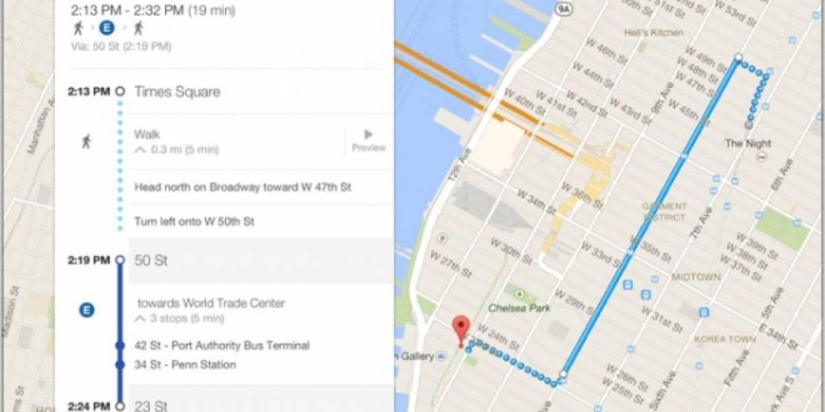 Google actualiza Maps para dispositivos con iOS
