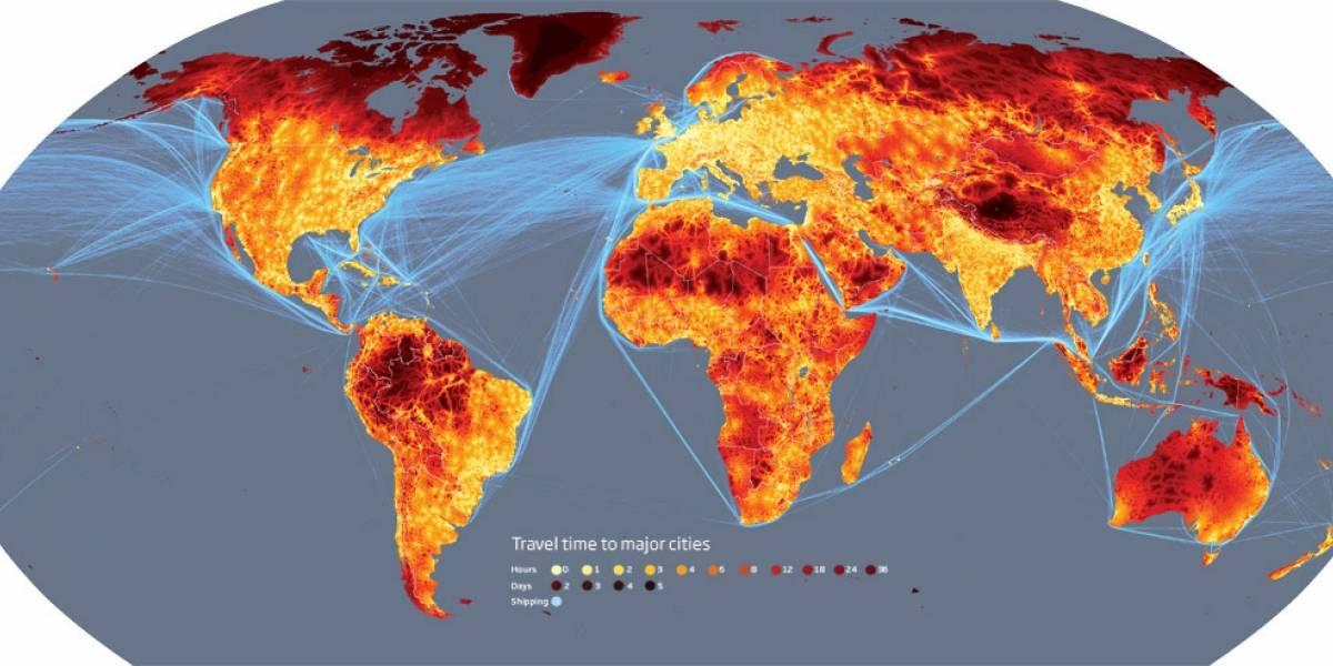 Mapa de los lugares más remotos del planeta