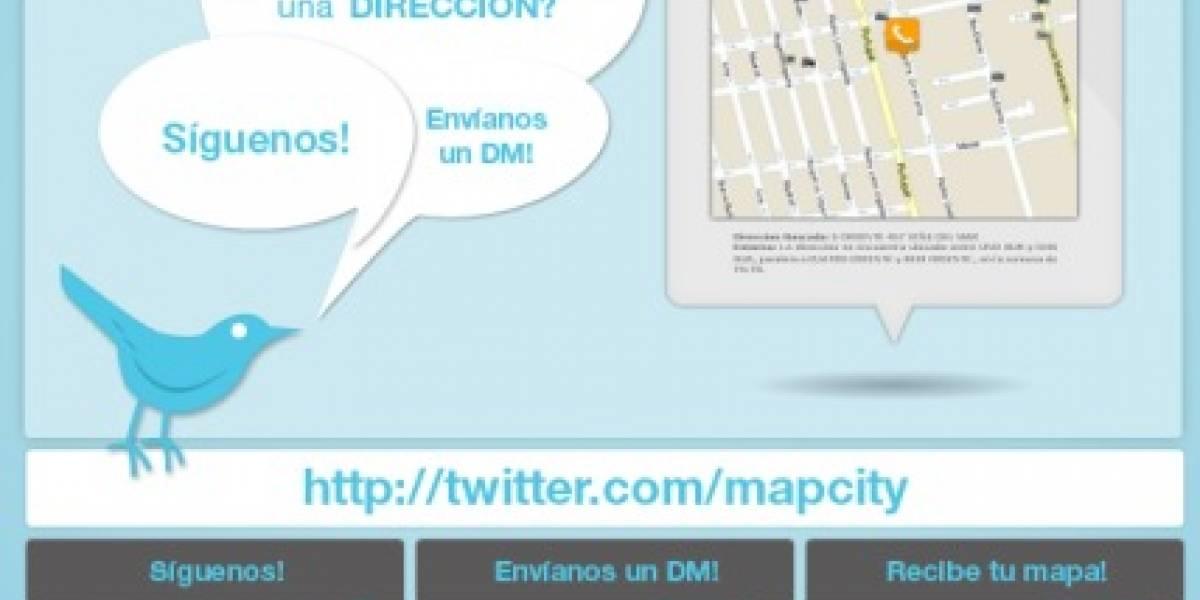 Mapcity te dice quién te llama por Twitter