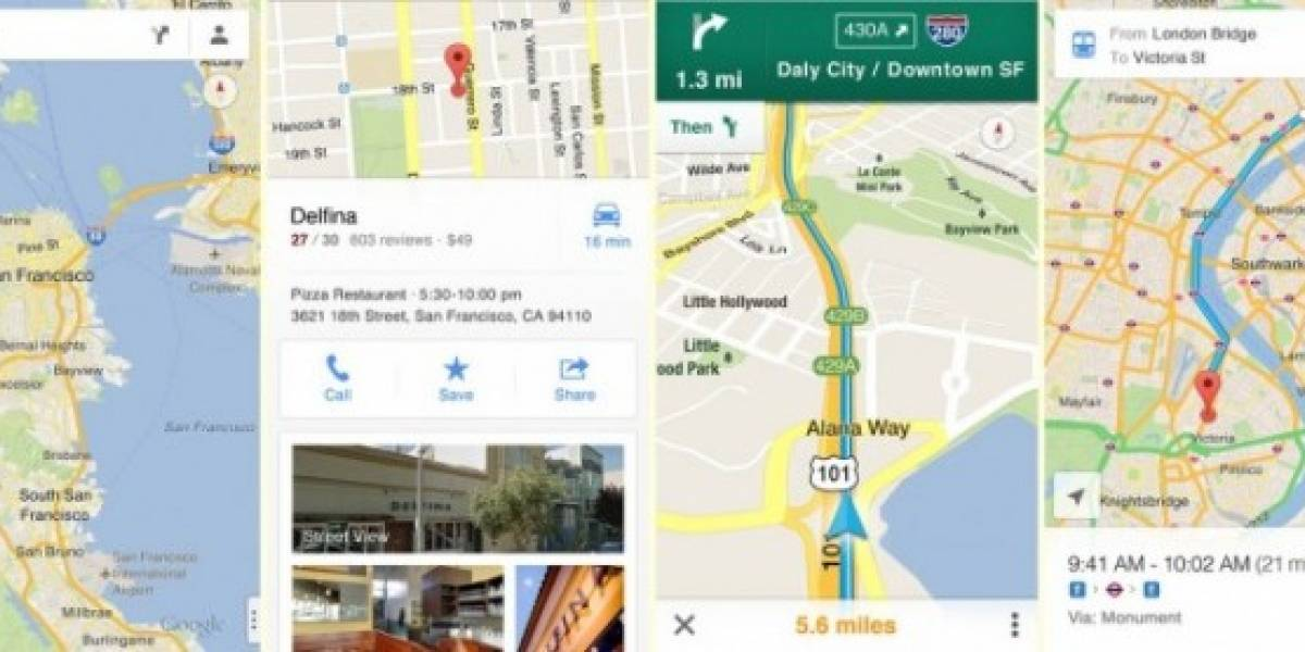 Google Maps para iOS supera las 10 millones de descargas en sólo 48 horas