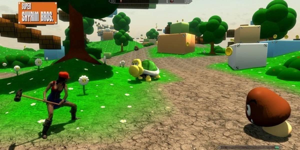 Mod de Skyrim convierte al RPG de Bethesda en Super Mario Bros.