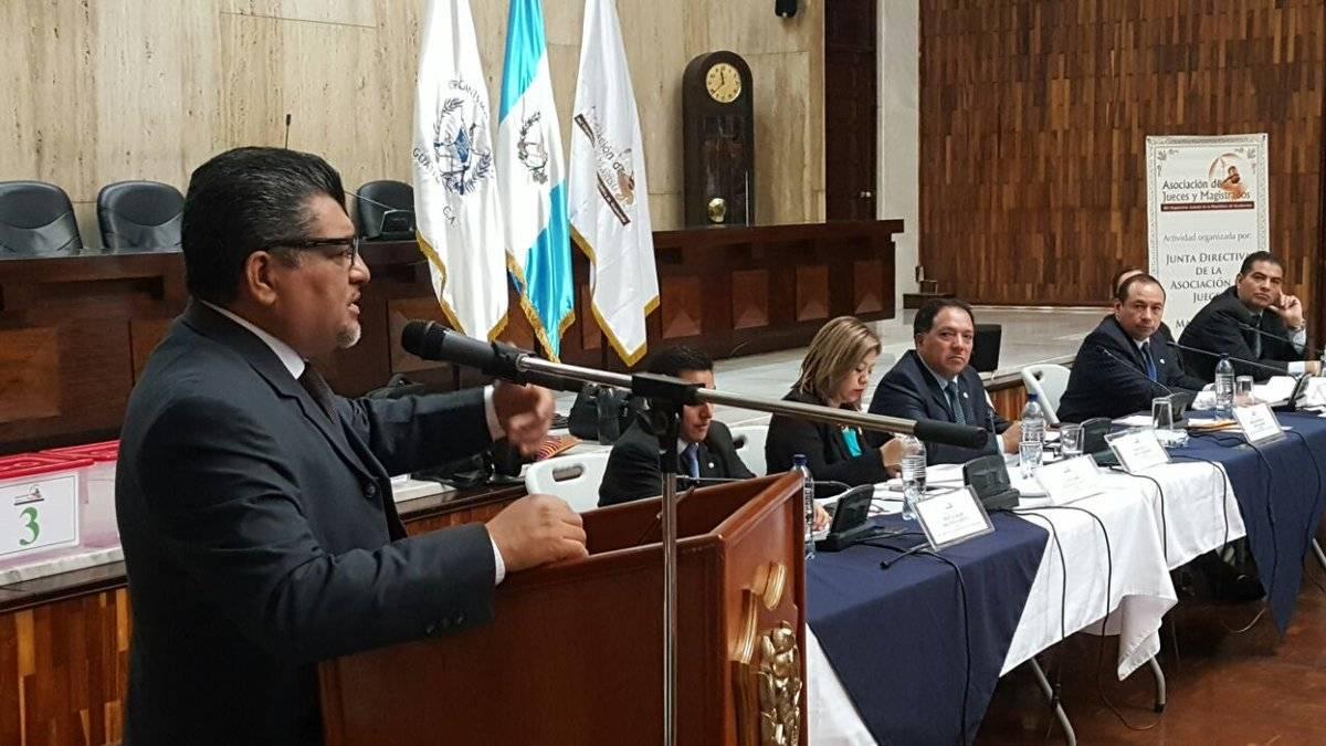 Marlon López, presidente de la Asociación de Jueces