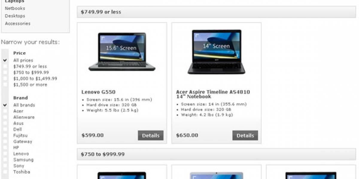 Ahora Microsoft Store vende computadores