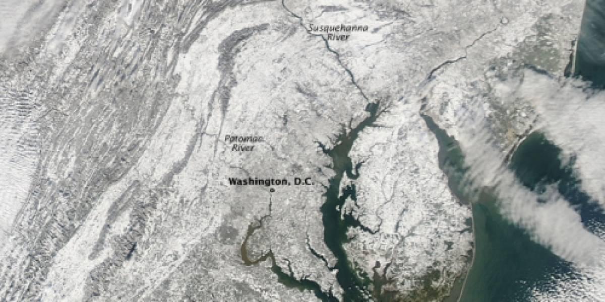 Imperdible: La costa este de Estados Unidos cubierta de nieve