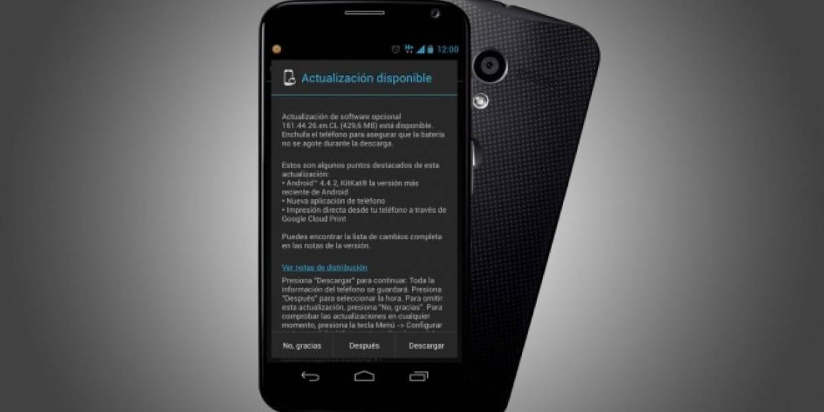 Android 4.4.2 KitKat ya disponible para el Motorola Moto X de Movistar Chile