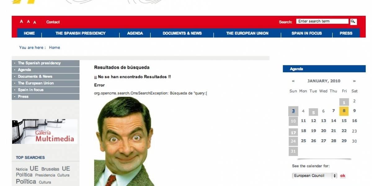 Hackean web de la Presidencia española en la UE con imagen de Mr. Bean