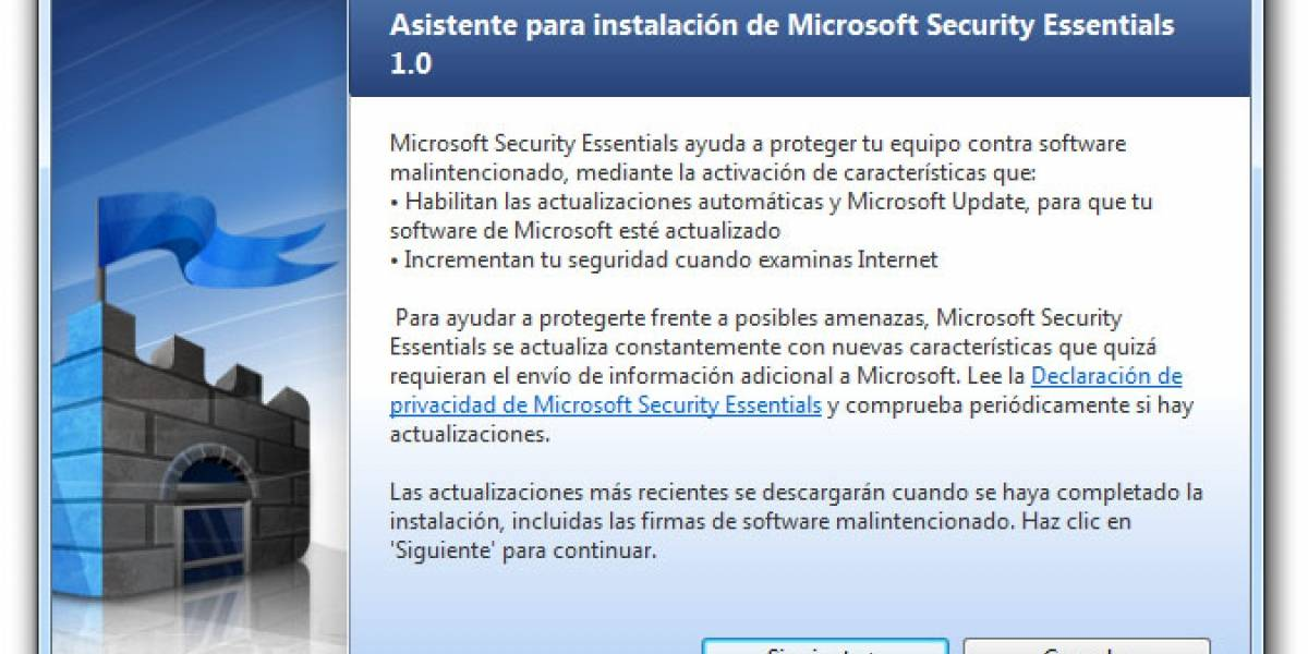 Microsoft Security Essentials ya está disponible en 19 países