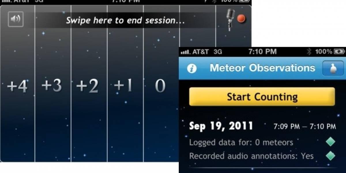 ¿Monitorear meteoritos? Hay una aplicación para eso