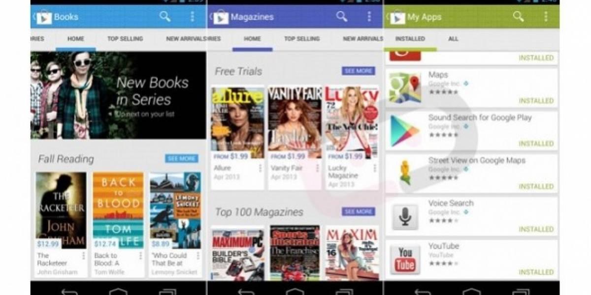 Se filtra la próxima versión de Google Play, y así lucirá