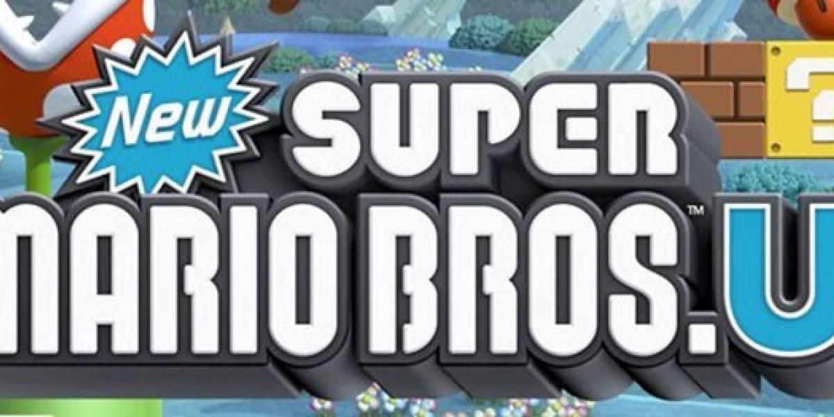 Esta es la carátula de New Super Mario Bros. U
