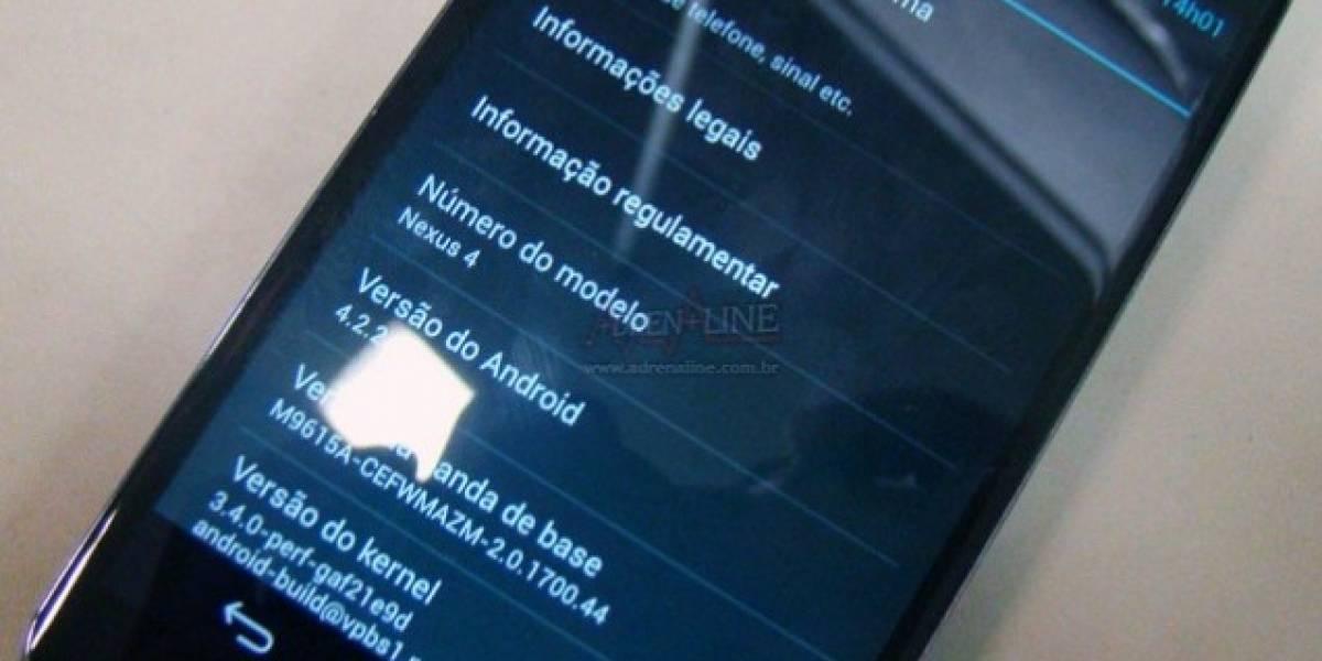 ¿Acaso el Nexus 4 fabricado en Brasil viene con Android 4.2.2?