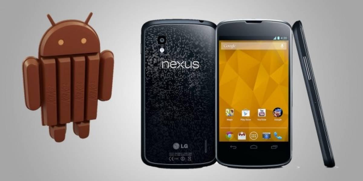 Nexus 4 ya comienza a actualizarse a Android 4.4 KitKat vía OTA