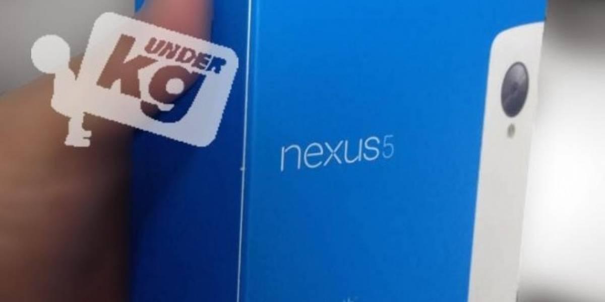 ¿Acaso la caja del Nexus 5 apareció en la red?