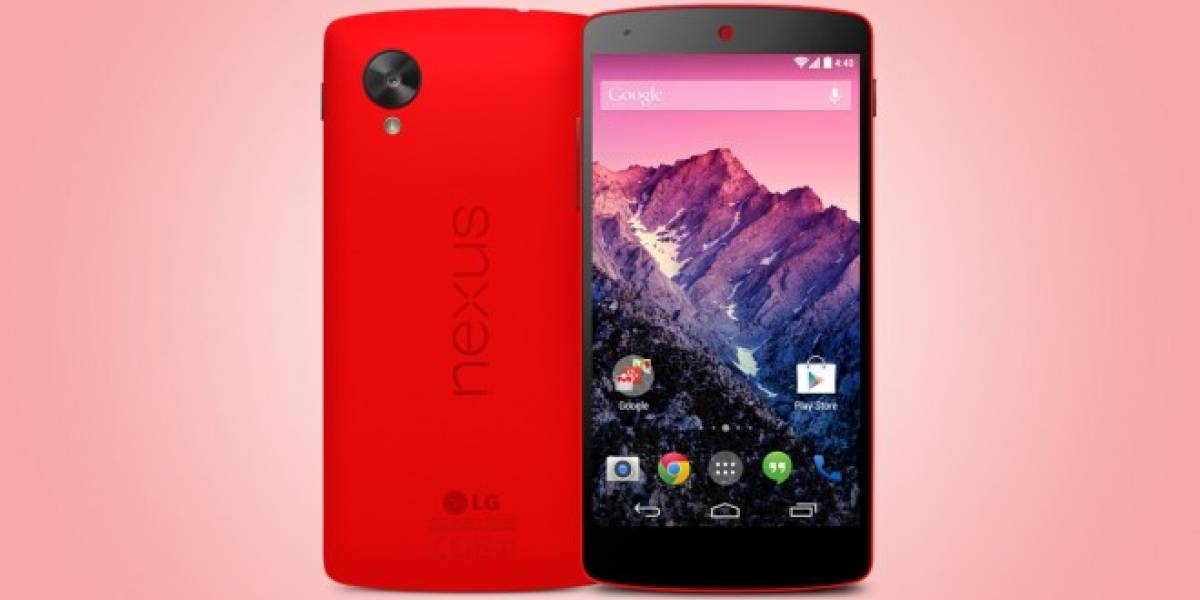 Nexus 5 Rojo ya disponible en Estados Unidos y España