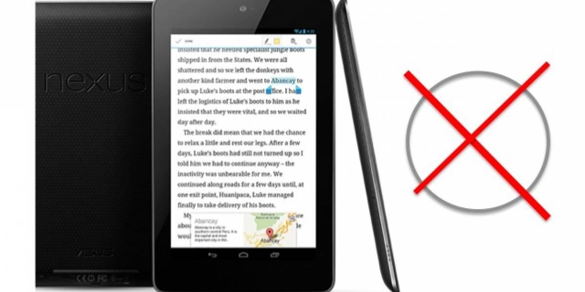 Top 3 de quejas acerca de la Nexus 7