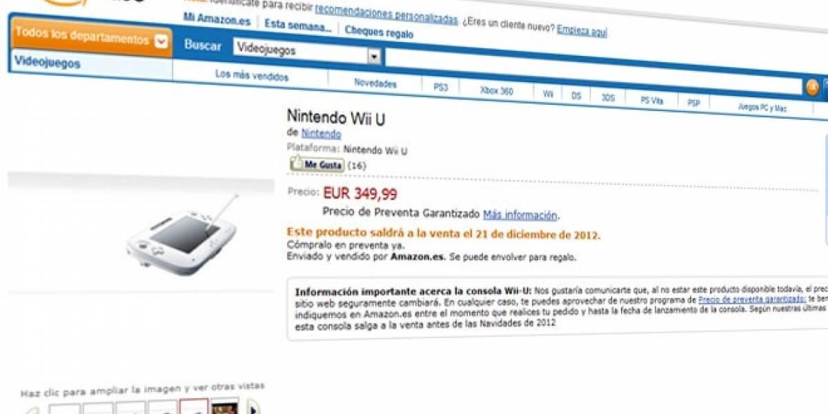 La Nintendo Wii U y algunos de sus juegos ya pueden comprarse en Amazon España