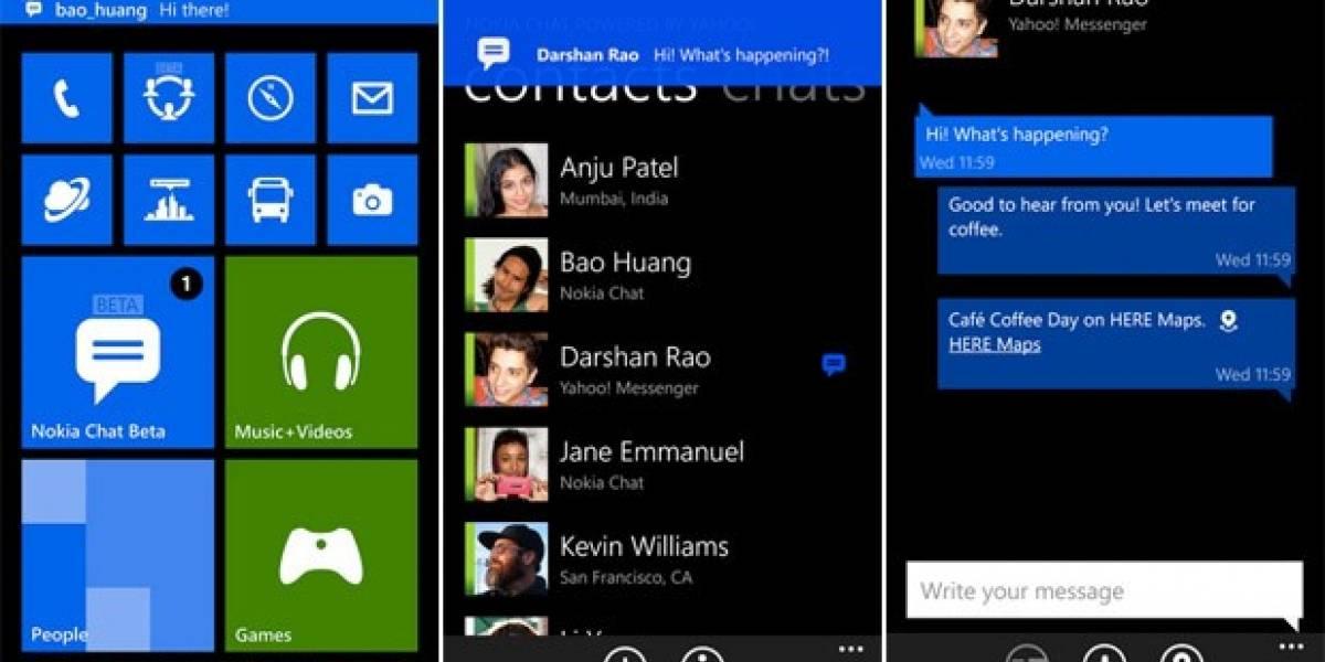 Llega a Windows Phone versión beta de Nokia Chat