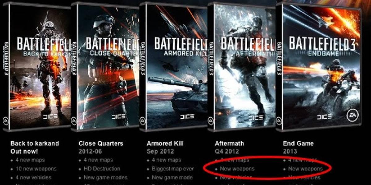 EA le quita las nuevas armas a los dos últimos DLC de Battlefield 3