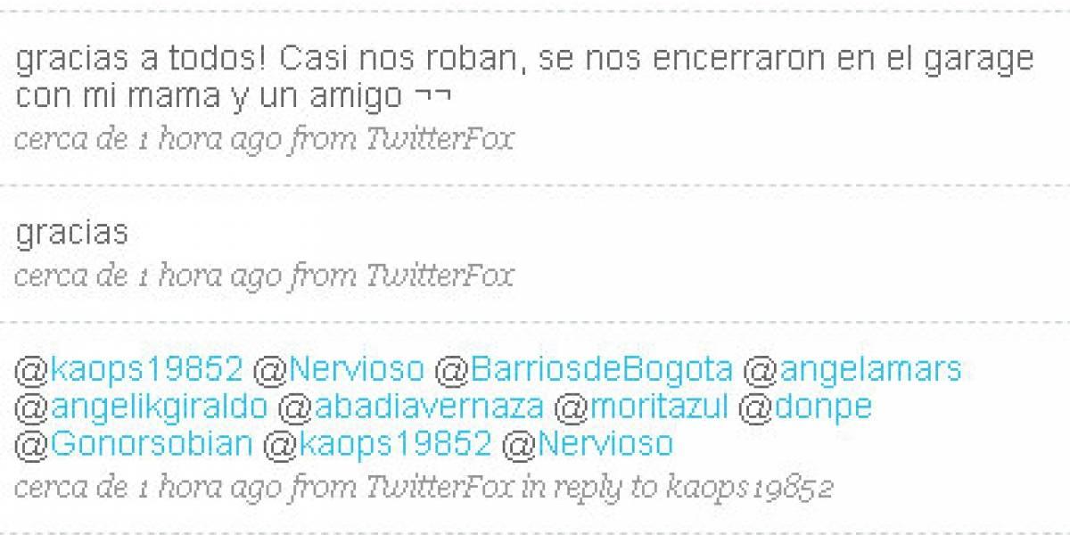 Twitter evita asalto a residencia en Bogotá