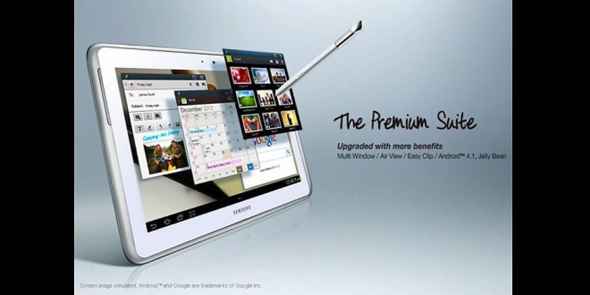 Samsung libera la actualización Premium Suite para el Galaxy Note 10.1