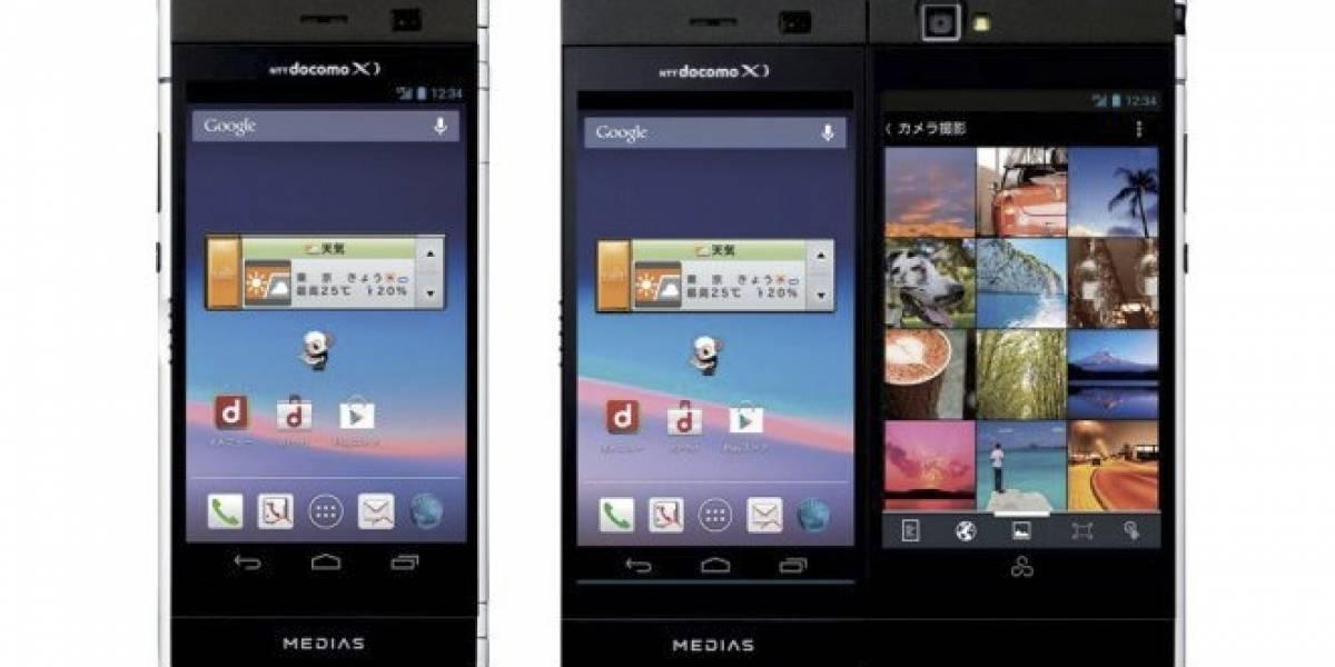 NTT DoCoMo presenta smartphone con dos pantallas unidas por una bisagra