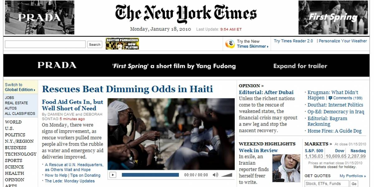 The New York Times confirma que cobrará por leer su web
