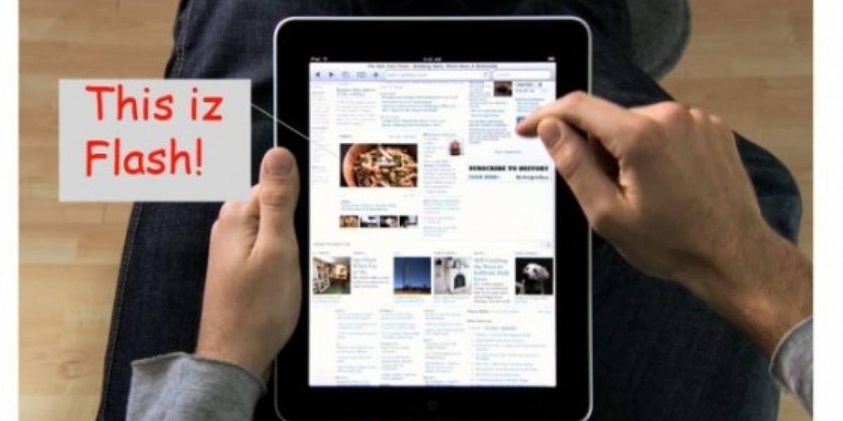 La publicidad del iPad muestra Flash andando